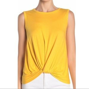NEW Abound Yellow Whip Knot Front Tank Top